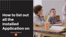 list installed applications